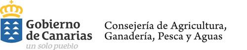Logo Gobierno de Canarias Consejería de Agricultura, Ganadería, Pesca y Aguas