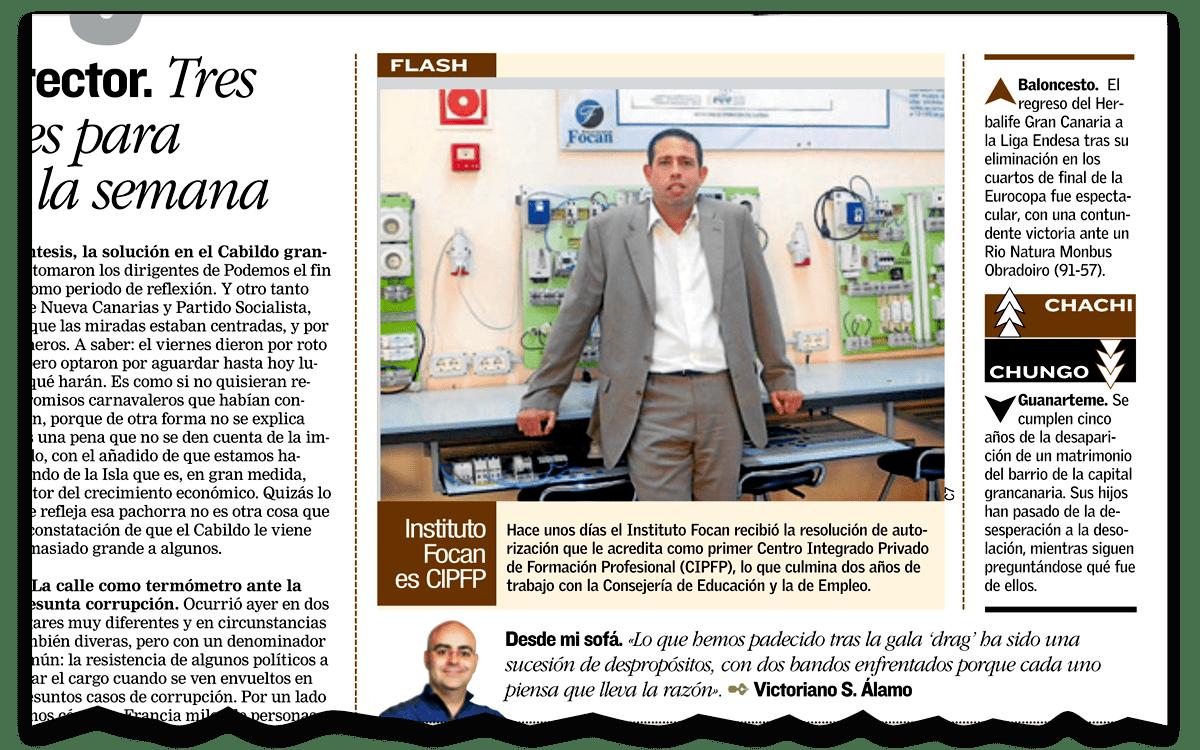 Miniatura de nota de prensa: Primer centro en canarias en obtener el CIPFP en Canarias7