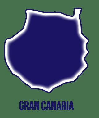 silueta isla de Gran Canaria en Instituto Focan
