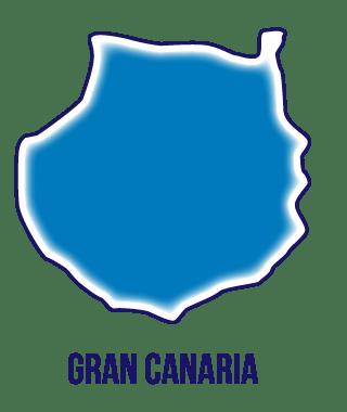Silueta isla de Gran Canaria
