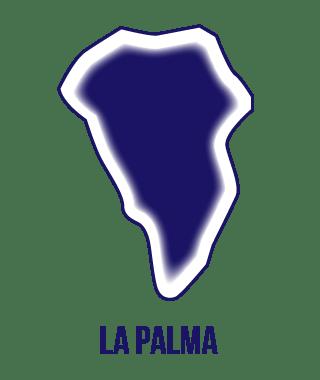 silueta isla de La Palma en Instituto Focan