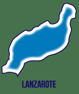 Silueta isla de Lanzarote.