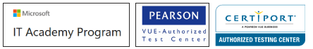 Logotipo centro certificado por IT Academy Program y Pearson Vue y Certiport Authorised Test Center. Instituto Focan