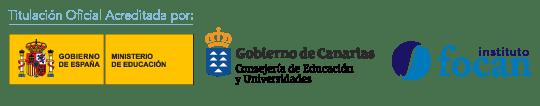 Titulación oficial acreditada por el Ministerio del Interior, Gobierno de Canarias y el Instituto Focan