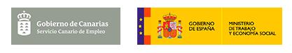 Logos del Servicio Canario de Empleo y Ministerio de Empleo y Seguridad Social